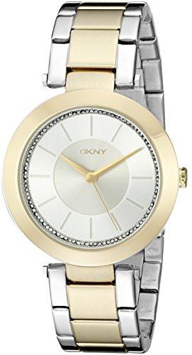 DKNY Damen-Armbanduhr  Gold Analog Quarz Edelstahl NY2334