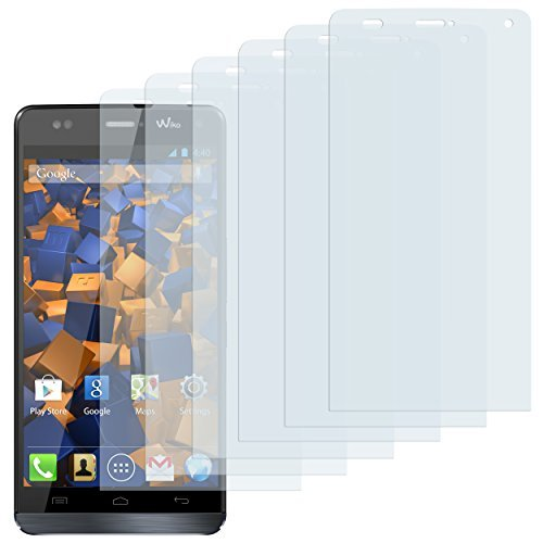 mumbi Schutzfolie kompatibel mit Wiko Getaway Folie klar, Bildschirmschutzfolie (6x)