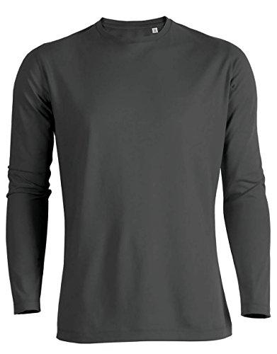 Herren Langarmshirts mit Rundhals Aus 100% Baumwolle (Bio), Herren Bio Shirts Langarm, Langarm Bio T-Shirt, Herren Longsleeves Aus 100% Baumwolle (Bio), Bio Shirt Langarm, Longleeves Organic Cotton Anthrazit