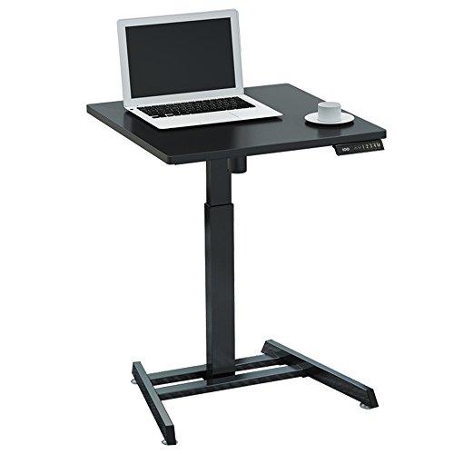 Laptopständer DD Elektrischer Aufzug Tisch Intelligenter Schreibtisch Automatischer Hubtisch Stehpult Einzelner Verstellbarer Schreibtisch -Werkbank (Farbe : Black-60cm)
