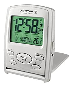 acctim 71707 vista msf radio controlled multi function lcd travel alarm clock. Black Bedroom Furniture Sets. Home Design Ideas
