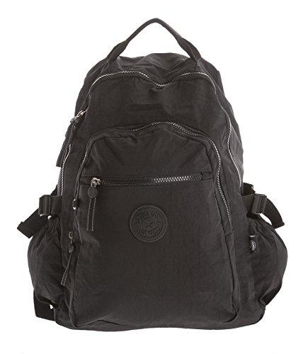 Big Handbag Shop, Borsa a zainetto donna Backpack Style 1 - Black