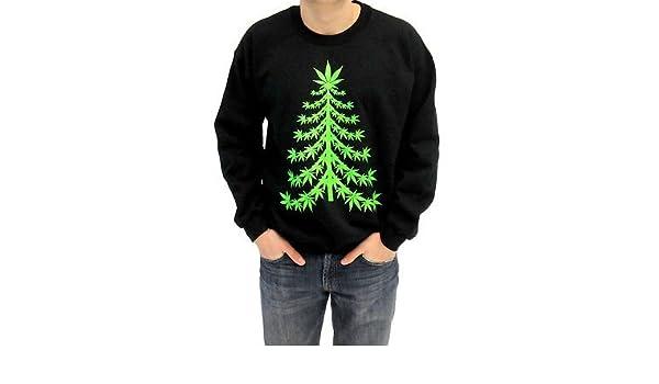 /'Mistlestoned/' Christmas Jumper Stoner Cannabis Alternative Weed 420