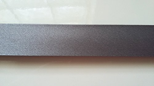 ILC MERCERIE PARADIS Biais Uni Satin : x 2 mètres ou x 5 mètres (20 mm / 40 mm) (Gris foncé (Anthracite), 2 mètres (20 mm))