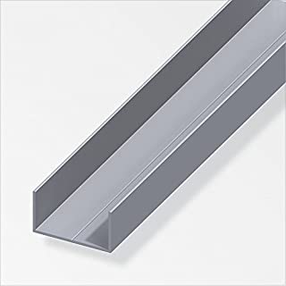 Rechteck-U 15,5x27,5mm 1m Aluminum blank