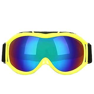 Aeici Sportbrille TPU Sonnenbrille Sport Herren Polarisiert Snowboardbrille Wechselglas Gelb