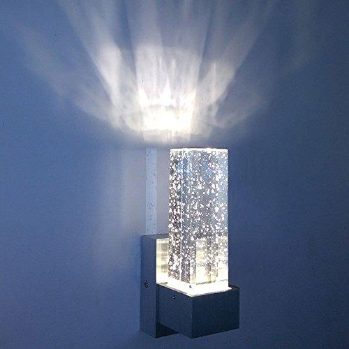 INNORI Wandleuchte Wandleuchten Wandleuchte Kristall 3W LED Wandleuchte Innen mit Bubbles in es für Schlafzimmer Gehweg Korridor Wohnzimmer Esszimmer KTV & Bar C warmes weißes Licht (Bubble Wandleuchte)