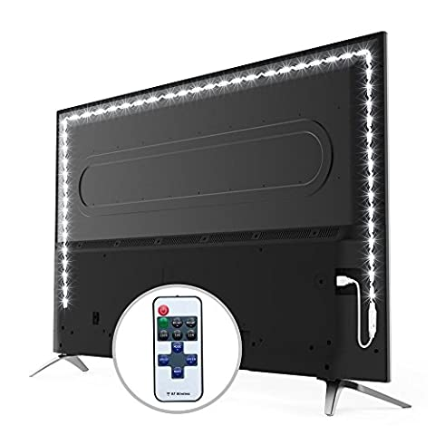 Led TV Lights Backlight led strip lights with Wireless Remote 200CM USB Light Strip Bias Lightning for Monitor TV Gaming Backlight Decoration 10-Level Brightness Dimmable - Bright White Light - Dustproof (Relieve Eye Fatigue and Increase Image