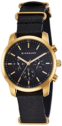 Giordano Analog Black Dial Men's Watch-1772-06 image