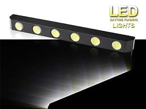 HooToo® - Feux diurne Feux de jour universel d'un barre de 6 LED blanc externe pour voiture Diurne lumiere éclairage avec une fonction de s'éteindre automatiquement