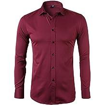 Amazon.it: camicia nera uomo Rosso