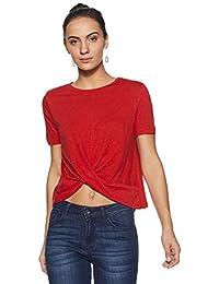Flying Machine Women's Plain Regular Fit T-Shirt