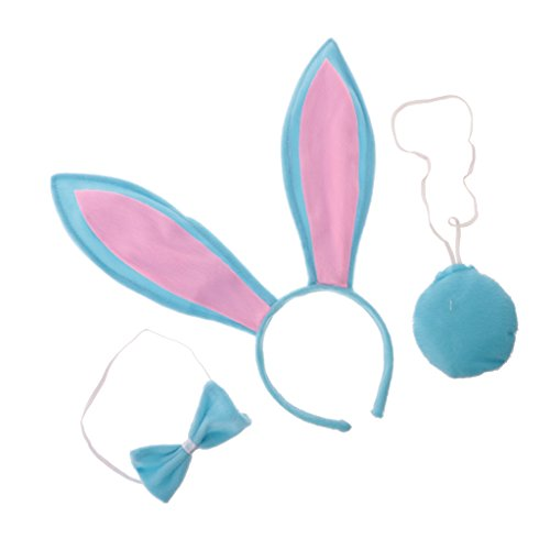 Baoblaze 3-teiliges Tier Hase Kostüm-Set - -