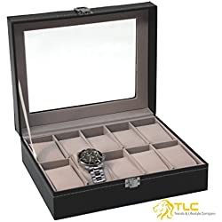 * DELIVERY FROM GERMANY * Watch Case Watch Box For 10 Watches Watch Box Watch Case Display Case