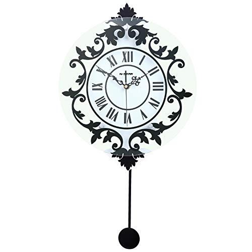 XIXIGZ Relojes De Pared Moderna Decoración Sencilla Roma Muda Hogar Reloj De Pared Moda Reloj Creativo Salón Dormitorio Colgando Mesa Personalidad Reloj
