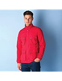 Pretty Green Mens Achres 4 Pocket Jacket In Red