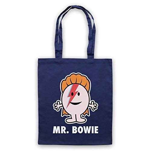 Inspiriert durch Mr Bowie David Bowie Mr Herren Illustration Inoffiziell Umhangetaschen Ultramarinblau