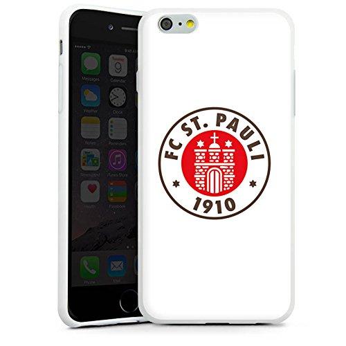 Apple iPhone 7 Hülle Case Handyhülle FC St. Pauli Fanartikel Fußball Silikon Case weiß