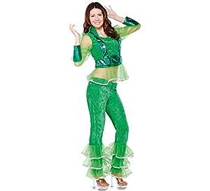 Fyasa 706235-t04-verd Disco disfraz de niña, verde, grande