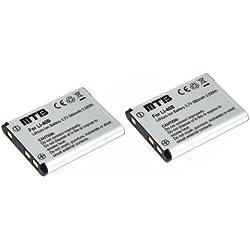 2x Batteries pour D-Li63 Pentax Optio L30, L40, M30, M40, T30, V10, W30...voir liste!