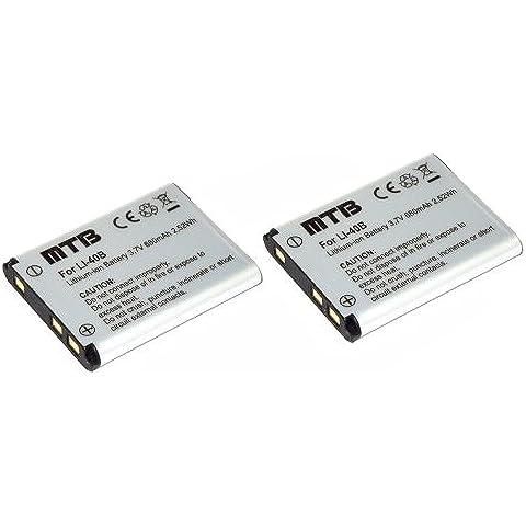 2x Batteria D-Li63 per Pentax Optio L30, L40, M30, M40,