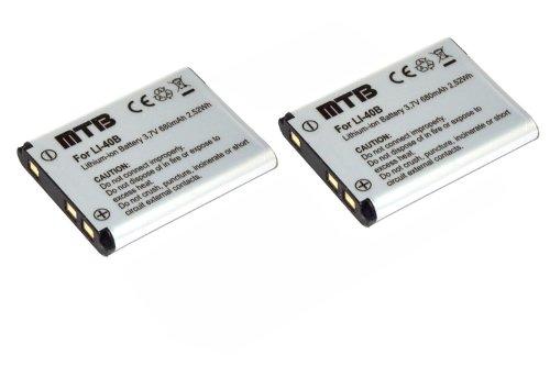 2X Batería D-Li63 para Pentax Optio L30, L40, M30, M40, T30, V10, W30. (Ver la descripción)