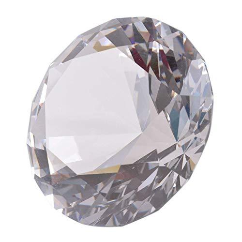 Longwin Lot de 10 diamants de cristal 40 mm de largeur, claire