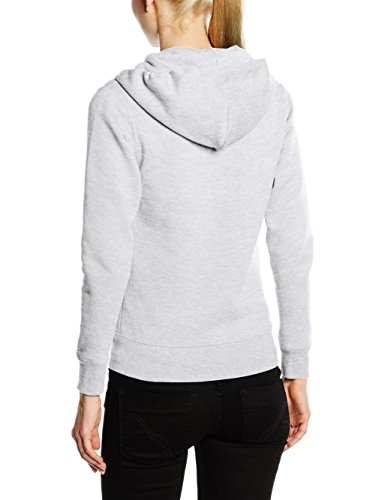 Fruit of the Loom Ss091m, Sweat shirt à capuche Femme Gris - Grey (Heather Grey)
