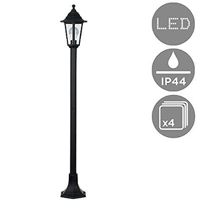 Traditional Victorian Style 1.2m Black IP44 Outdoor Garden Lamp Post Bollard Light from MiniSun