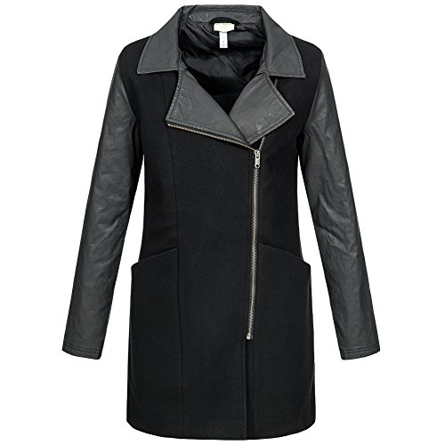 adidas NEO Wool Long Jacket Damen Winter Mantel Jacke Wolle S90333 (Adidas Mantel Jacke Frauen)