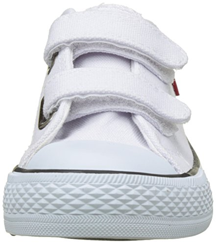 Levi's Trucker Low Velcro, Baskets Basses Garçon Blanc (White)