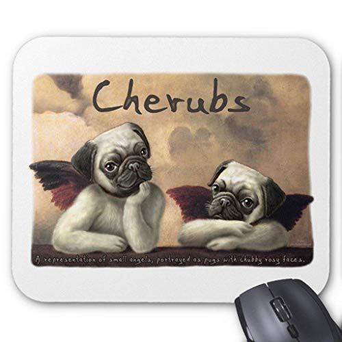 ASKSSD Computer Accessories Anti-Friction Wristband Angelic Pug Cherub Gift Items Mouse Pad 18X22