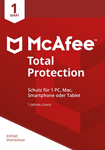 McAfee Total Protection 2018 | 1 Gerät | 1 Jahr | PC/Mac/Smartphone/Tablet | Download (Mcafee Antivirus-software)