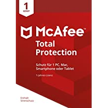 McAfee Total Protection 2018 | 1 Gerät | 1 Jahr | PC/Mac/Smartphone/Tablet | Download