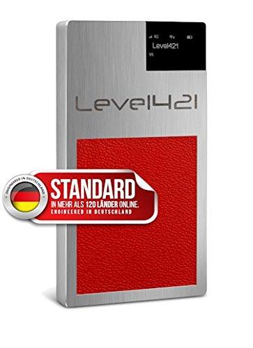 TARKAN - STANDARD VERSION - GLOBAL WiFi GSM Hotspot // SIM-Karten frei in über 120 Ländern // keine Roaming-Gebühren mehr // bis zu 10 Geräte per WLAN verbinden // Die STANDARD Version wird in Edelstahl geliefert und hat einen roten Griff. (Gsm Unlocked Smartphone-europa)