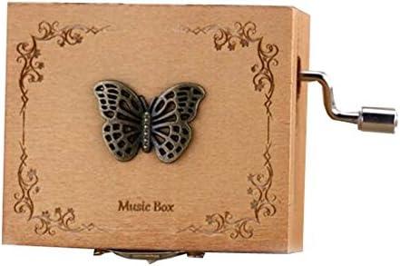 Boîte à musique musique musique en bois mini main boîte à musique Femmeivelle hauteur environ 1,3 pouces (papillon) | Large Sélection  ef3e80