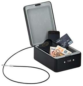kh security safe box inklusive sicherungskabel schwarz 370118 baumarkt. Black Bedroom Furniture Sets. Home Design Ideas