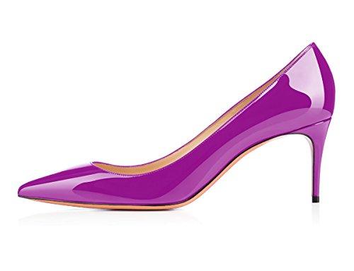 uBeauty Scarpe da Donna - Scarpe Col Tacco - Classiche Scarpe Col Tacco - Tacco a Spillo - 65 mm con Tacchi Alti Viola