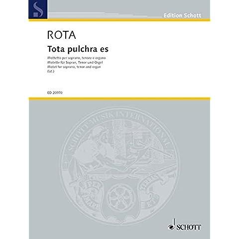 Tota pulchra es: Mottetto per soprano, tenore e organo. Sopran, Tenor und Orgel. Partitur.