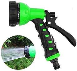 Futurekart 8 Pattern Water Spray Gun 1 Pcs (Black and Green)