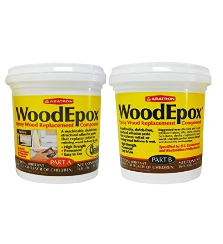 Abatron WoodEpox Epoxy Holzfüller Ersatz Compound, 2 Pint Kit, Teil A & B