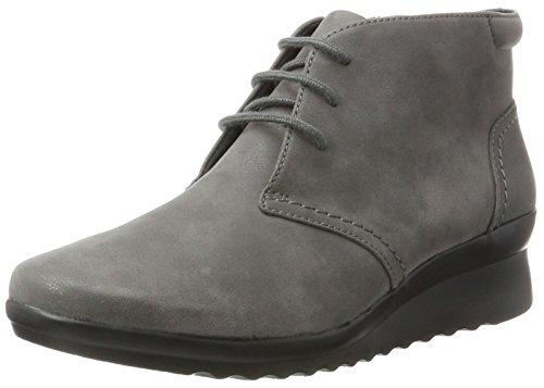 Clarks Caddell Hop, Zapatillas Altas para Mujer, Gris (Grey), 38 EU
