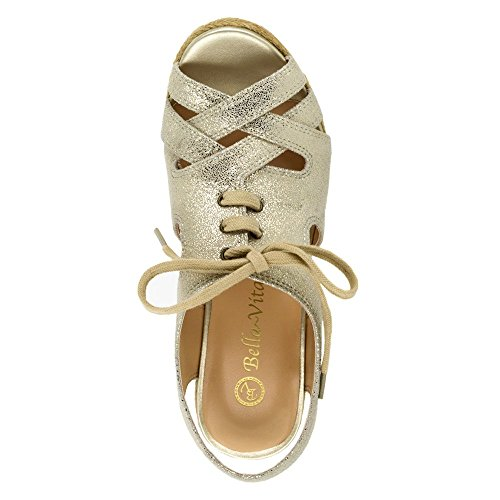Bella Vita Gracia Femmes Large Sandales Compensés gold