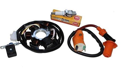 Lichtmaschine Zündspule Zündkerze - Set für Peut Speedfight 50 1 2 AC/LC
