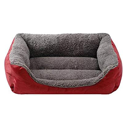 WWWWW Pet Bed Bite And Dirtproof Warm Pet Bed, Healthy And Odorless Waterproof Fabric Sofa Bed Pet Bed Cotton Soft And Comfortable Thick Warm Pet Sleeping Bed (68*55*16 Cm) Suitable For Pets Within 15 by WWWWW