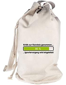 Kritik zur Kenntnis genommen..., bedruckter Seesack Umhängetasche Schultertasche Beutel Bag