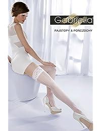 Gabriella - Bas autofixants - Femme Blanc Blanc
