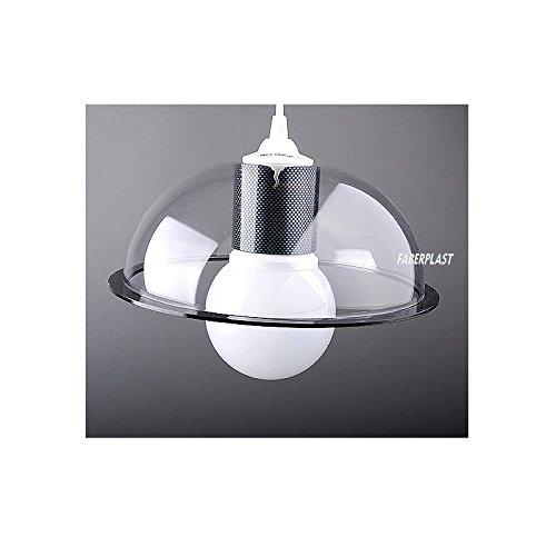 Faberplast bowlen Lampe, transparent, 25 x 25 x 25 cm