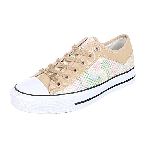 Ital-Design, Sneaker donna Beige (beige)