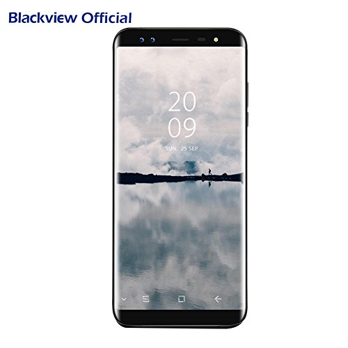 Smartphone Blackview S8 Android 7.0 (proporzione 18:9) 5.7 pollici HD+ Display con SONY 4 fotocamere 13MP+0.3MP, 4GB RAM 64GB ROM con Dual SIM 4G LTE, 3180mAh battery, OTG/GPS/Fingerprint ID, nero